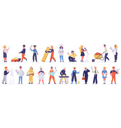 professional characters male and female employee vector image