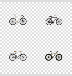 Realistic fashionable road velocity bmx and vector