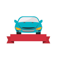 rent a car service icon vector image
