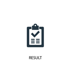 Result icon simple element vector