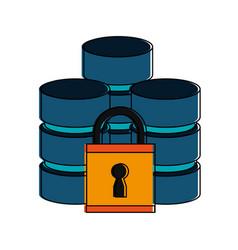 safety digital database vector image