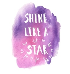 Shine like a star phrase vector image