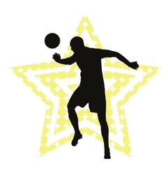 Soccer star concept vector image