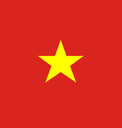 Socialist republic of vietnam flag vector