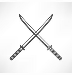 sword icon vector image