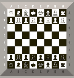 Top view chessboard chess game vector