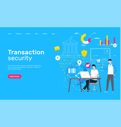 transaction security web page global network vector image