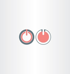 Two power start symbols icons vector