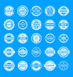 vintage badges and labels icons set simple style vector image