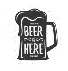 Vintage beer print T-shirt poster design vector