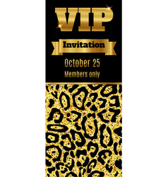 Vip club party premium invitation card flyer vector
