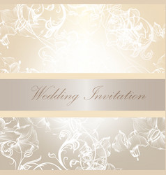 Wedding invitation card in soft colors vector