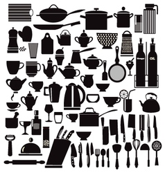 all kitchen goods kitchen and restaurant icon vector image vector image