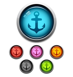 anchor icons vector image vector image