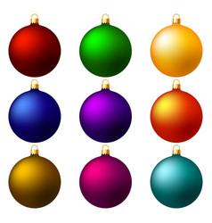 christmas balls christmas decorations vector image vector image