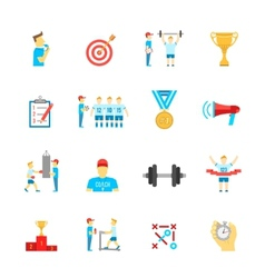 Coaching sport icons set vector image vector image