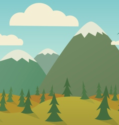 Horizontal nature seamless vector image vector image