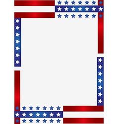 Patriotic frame background vector image