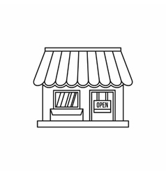 Shop icon outline style vector image vector image