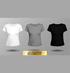 t-shirt template set for men and women realistic vector image vector image