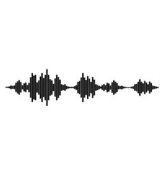 black and white sound waves vector image vector image