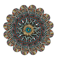 color card with mandala vector image