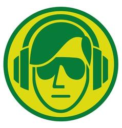 dj music sign vector image