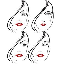 glamour girl portrait vector image