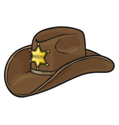 Old Western Sheriff Hat vector image