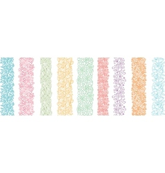 Set Of Nine Textured Natural Vertical Seamless vector image