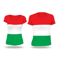 Flag shirt design of Hungary vector image vector image
