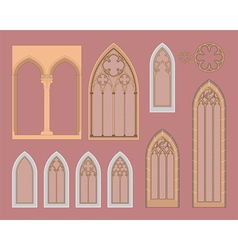 gothic windows vector image vector image
