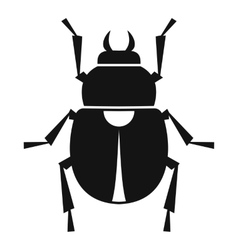 Scarab icon simple style vector image vector image
