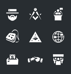 set of religious community icons vector image vector image