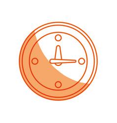 silhouette clock symbol icon design vector image