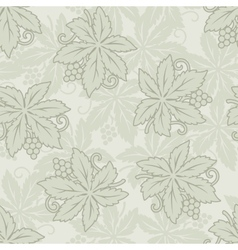 vintage seamless grapes and leaves vector image vector image