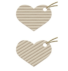 Heart Cardboard tag with rope vector image