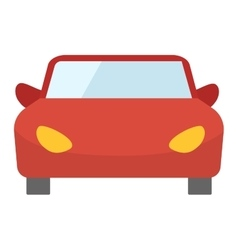 Red cartoon car front view vector image vector image