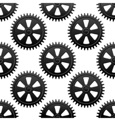 Seamless gears pattern vector image vector image