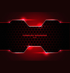 abstract black and red metallic frame vector image