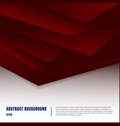 abstract paper art style layout template dark red vector image