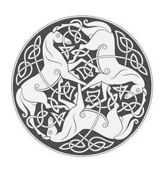 ancient celtic mythological symbol horse vector image