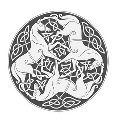 Ancient celtic mythological symbol of horse vector