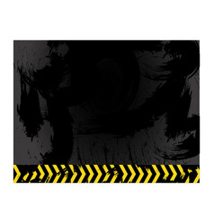 Asphalt with stains and line sign caution vector