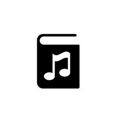 Audio book flat icon vector