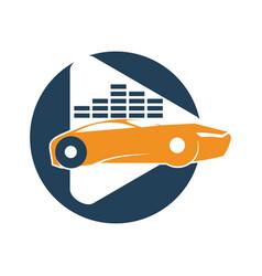 Audio car system player volume logo template vector
