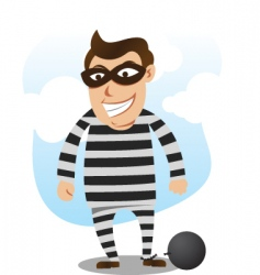 Bad guy free from jail vector