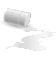Barrel with white liquid vector image