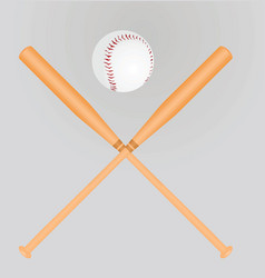 Baseball ball and bats vector