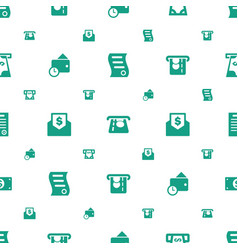 bill icons pattern seamless white background vector image